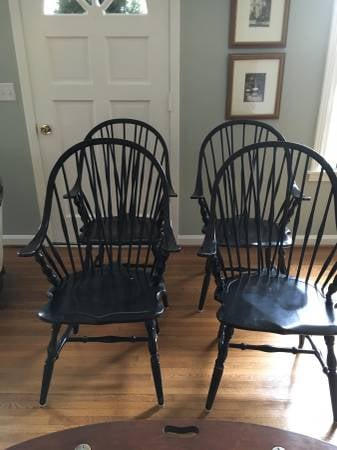 Set of 4 Windsor Chairs     $100     View on Craigslist