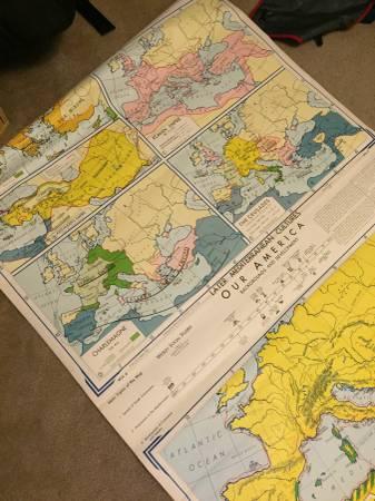 Vintage Social Studies Map     $50     View on Craigslist