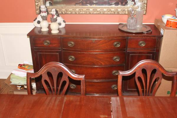 Antique Buffet     $150   This buffet would look nice with a coat of paint!    See on Pinterest      View on Craigslist