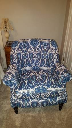 Blue Ikat Chair     $225     View on Craigslist
