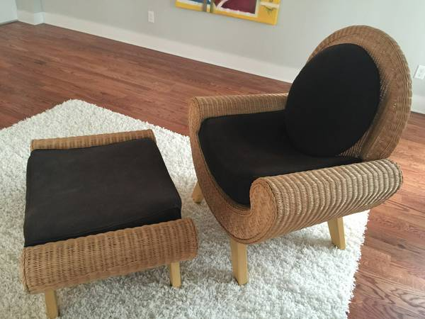 Wicker Chair and Ottoman     $100     View on Craigslist