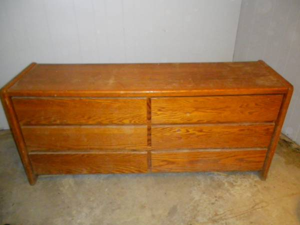 Dresser     $20   This is the perfect project piece. With a fresh coat of paint and some drawer pulls this dresser would be totally transformed.     View on Craigslist