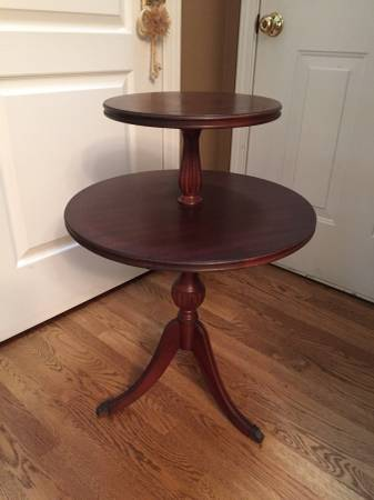 Antique 2-Tier Table     $65     View on Craigslist