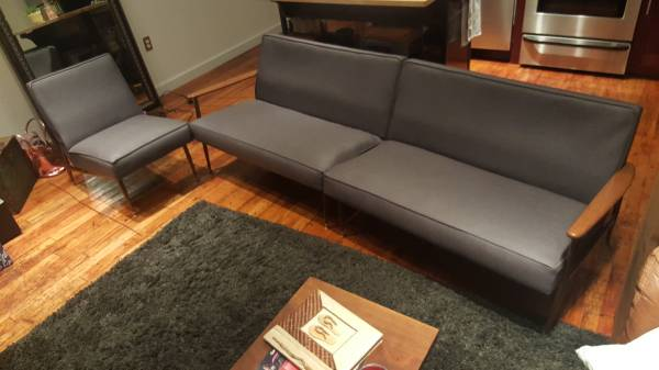 Mid Century Couch and Chair     $600     View on Craigslist