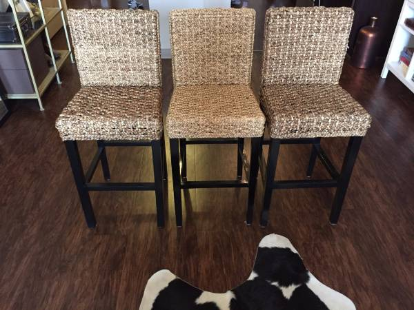 Set of 3 Z Gallerie Stools $200 These stools retail for $99 each. View on Craigslist