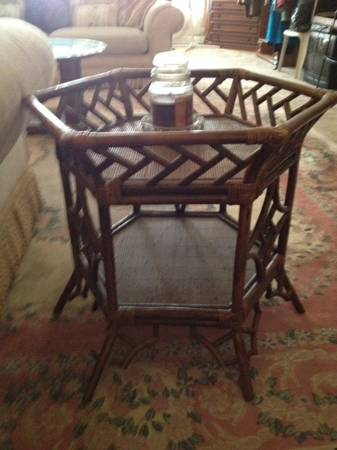 Bamboo/Rattan Table     $50     View on Craigslist