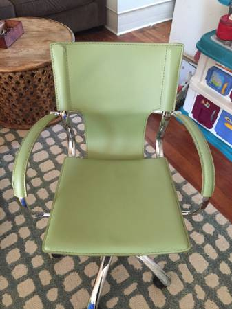 Green Leather Office Chair     $50     View on Craigslist