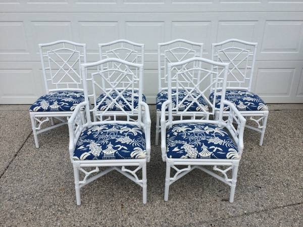 Set of Chinese Chippendale Style Chairs $950 View on Craigslist