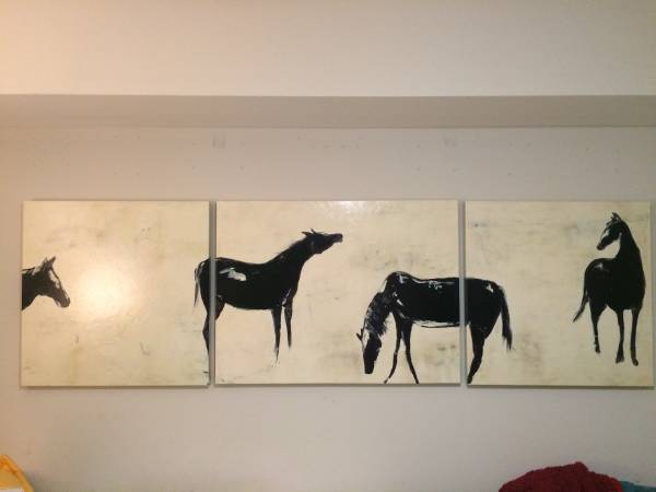 Set of Horse Prints     $50   This artwork would be perfect in a big space.    View on Craigslist