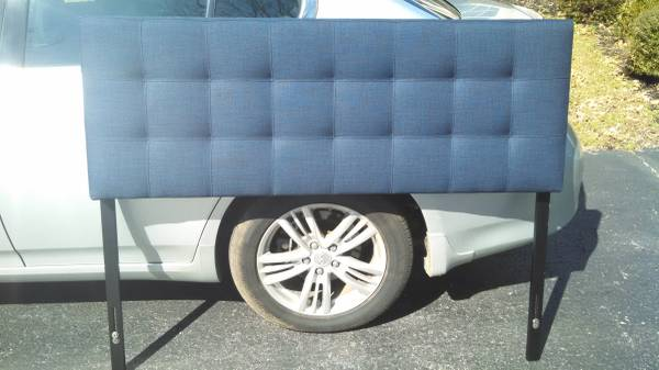 Navy Upholstered Headboard     $100     View on Craigslist