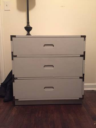 Campaign Style Chest     $90   Looks like this piece could use a new paint job and new hardware.    View on Craigslist