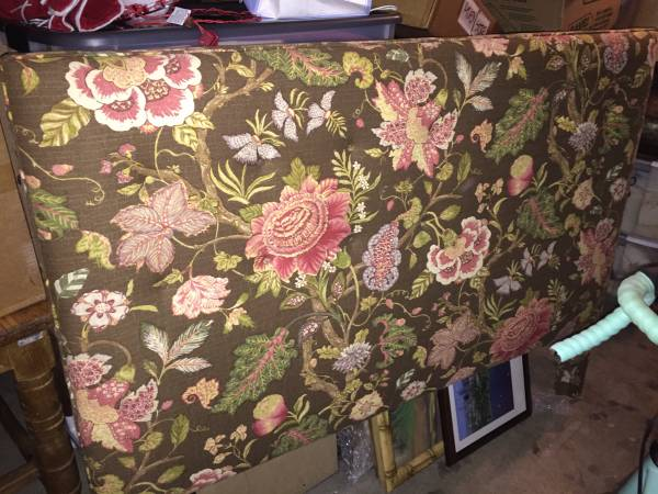 Queen Upholstered Headboard     $25   Use as is or buy as a base for your new fabric.     View on Craigslist