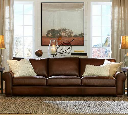 Pottery Barn Leather Sofa     $2500     View on Craigslist