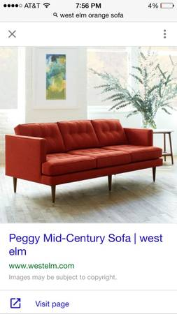 West Elm Peggy Sofa     $700     View on Craigslist