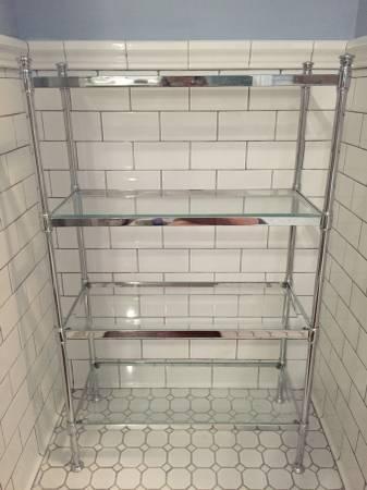 Restoration Hardware Glass Etagere     $350     View on Craigslist