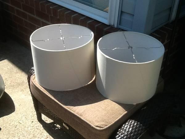 Pair of Lampshades     $5 each   This is a great price!    View on Craigslist