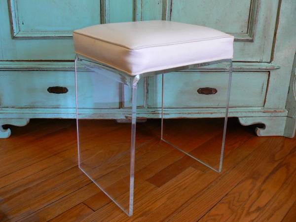 Mid-Century Lucite Stool $100 View on Craigslist