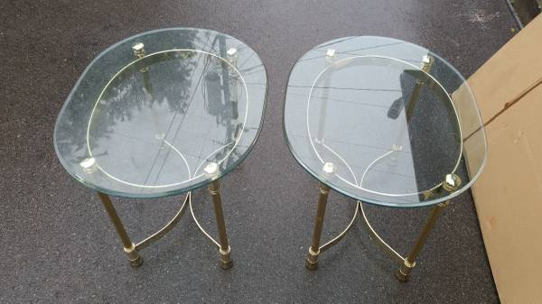 Pair of Brass End Tables     $60     View on Craigslist