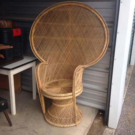 Vintage Peacock Chair     $40     View on Craigslist