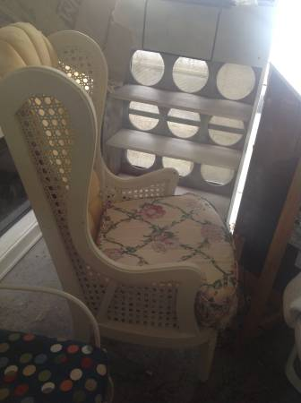 Vintage Cane Chair     $25   This chair is screaming for a makeover - with a fresh coat of paint and some new fabric it could be gorgeous!     See on Pinterest      View on Craigslist