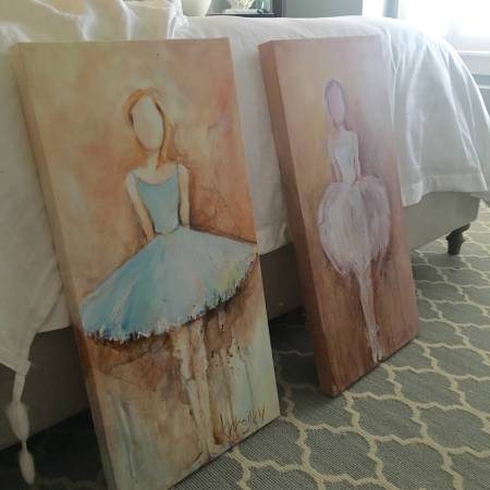 Pair of Ballerina Paintings     $200     View on Craigslist
