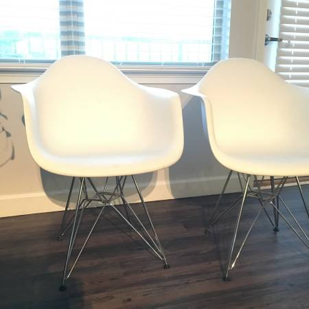 Pair of Eames Style Chairs     $100     View on Craigslist