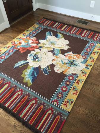 5' x 7' Anthropologie Rug $150 View on Craigslist