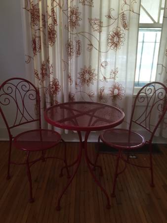 Bistro Table and Chairs $50 View on Craigslist