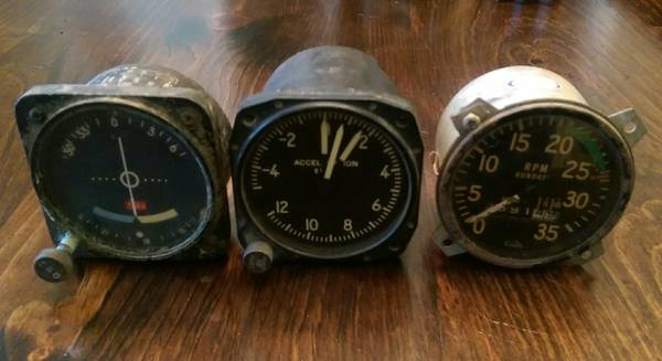 Vintage Aircraft Gauges $75 These would look great hanging on the wall or as a decorative accent on a shelf. View on Craigslist