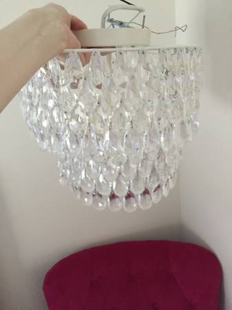 PB Teen Flushmount Chandelier $40 This retails for $129. View on Craigslist