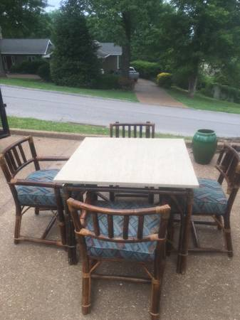 Rattan Table and Chairs     $15     View on Craigslist