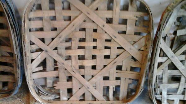 Tobacco Baskets     $75   See Craigslist ad for specifics on pricing.     View on Craigslist