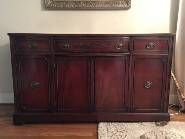 Antique Buffet $200 his buffet is beautiful as is but would also look great painted.  View on Craigslist