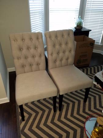 Pair of World Market Chairs $150 View on Craigslist