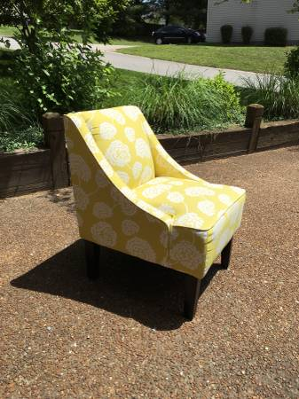Yellow Accent Chair $50 View on Craigslist