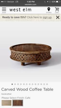 West Elm Coffee Table $250 View on Craigslist