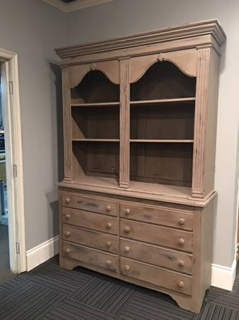 China Cabinet $225 This would be a perfect piece in a kitchen to store and display dishes and serving pieces.  View on Craigslist