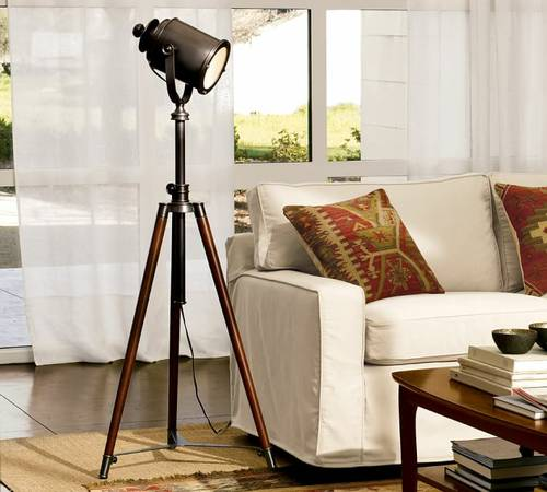 Pottery Barn Tripod Lamp     $200   This retails for $379 at Pottery Barn.    View on Craigslist