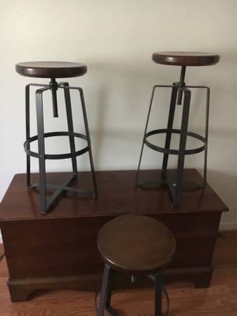 Set of West Elm Stools $150 View on Craigslist