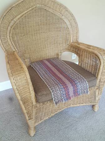 Wicker Chair     $40     View on Craigslist