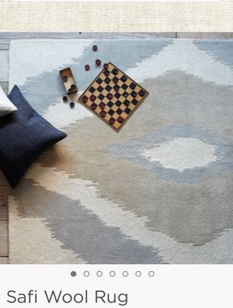 West Elm 5' x 8' Rug     $100     View on Craigslist
