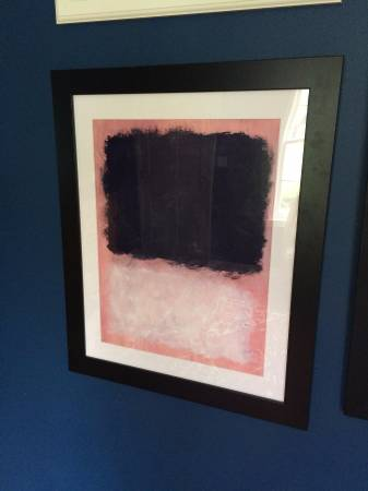 Vintage Mark Rothko Print     $25     View on Craigslist