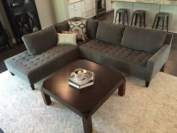 Z Gallerie Sectional $1000 View on Craigslist