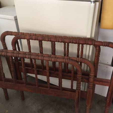 Pair of Twin Spindle Beds     $40   These would be adorable painted and both for $40 is a great deal!!    View on Craigslist