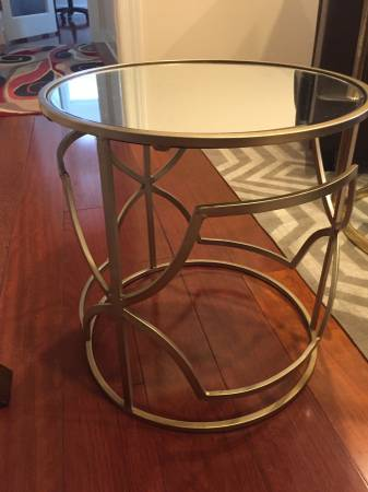Gold Side Table $50 View on Craigslist