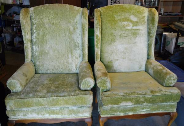 Pair of Wingback Chairs     $125     View on Craigslist