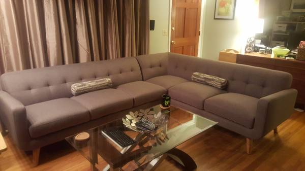 All Modern Sectional     $700   This sofa retails for $1000 and is just a few months old.     View on Craigslist