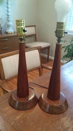 Pair of Mid-Century Lamps $50 View on Craigslist