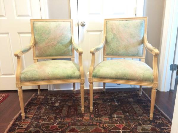 Pair of French Style Chairs     $200     View on Craigslist