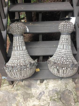 Pair of Antique Crystal Chandeliers     $575     View on Craigslist